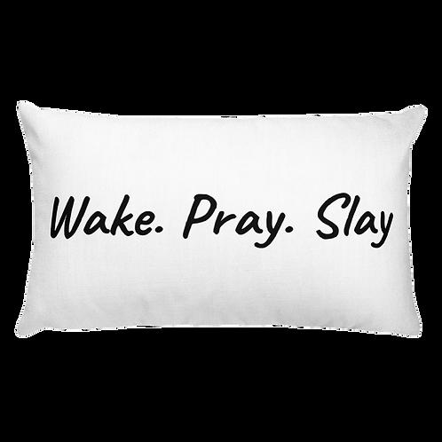Wake Pray Throw Pillow