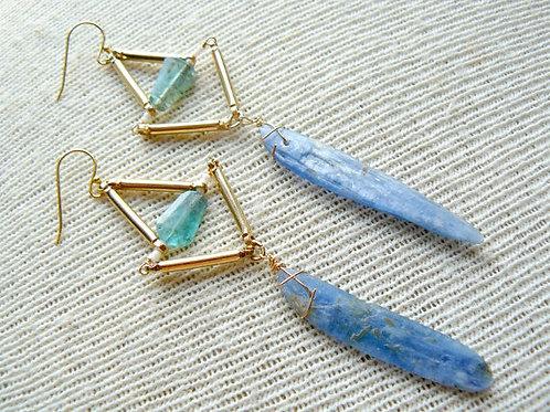 Kyanite Bead Earrings