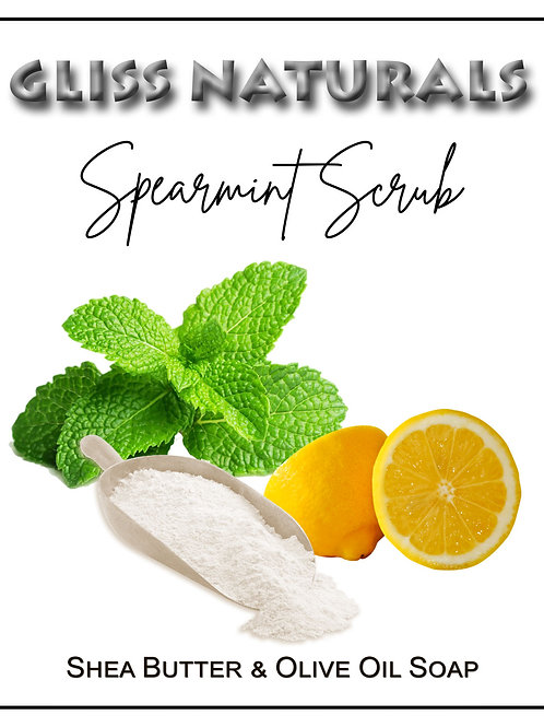 Handcrafted Spearmint Scrub Soap