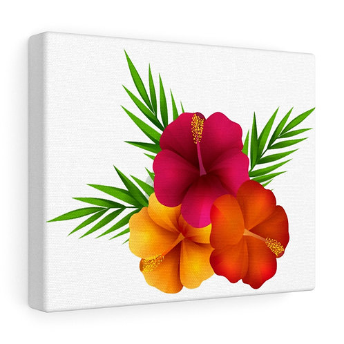 Custom Tropical Flower Canvas