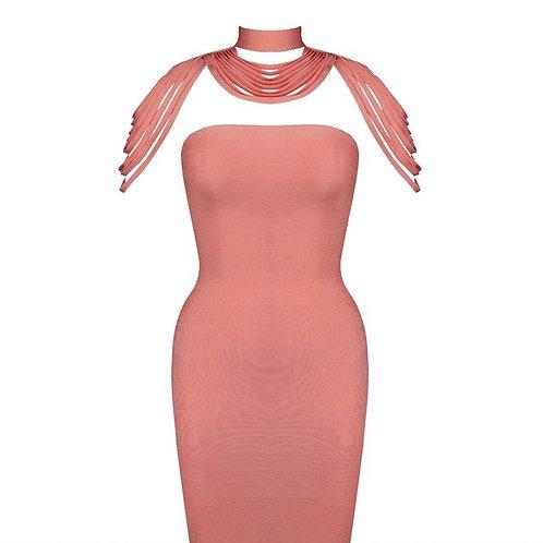 Shoulder Tassel Bandage Dress