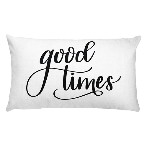 Good Times Throw Pillow