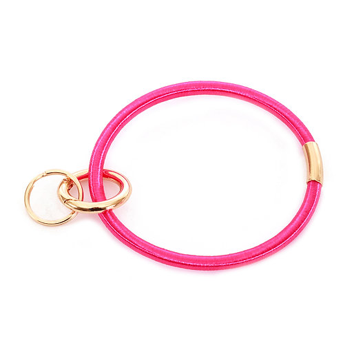Pink Keychain Bracelet