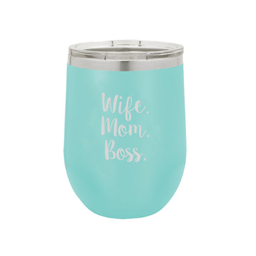 Wife Mom Boss Insulated Tumbler