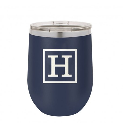 Single Initial Insulated Tumbler