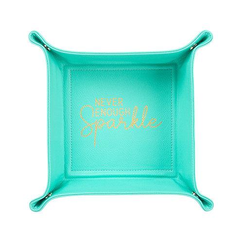 Never Enough Sparkle Mint Trinket Tray
