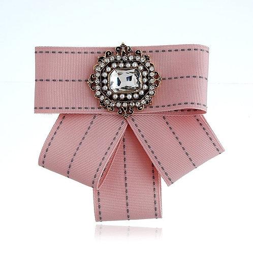 Pink Bowtie Brooch
