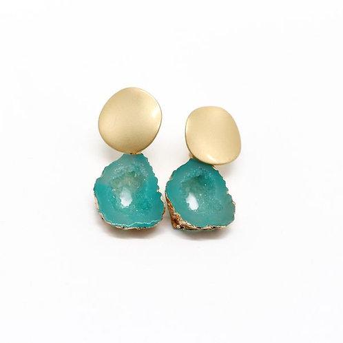Teal Stone Drop Earrings
