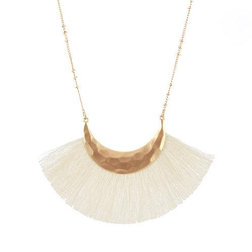Cream Fringe Necklace
