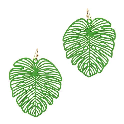 Green Palm Earrings