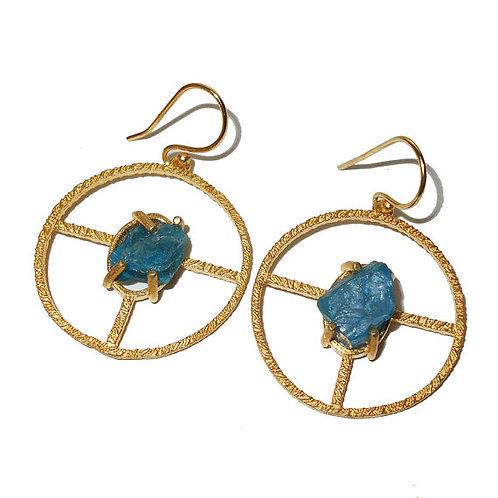 Blue Apatite Earring