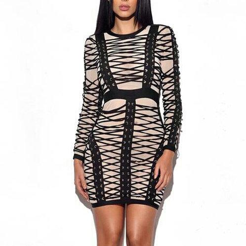 Nude Illusion Dress