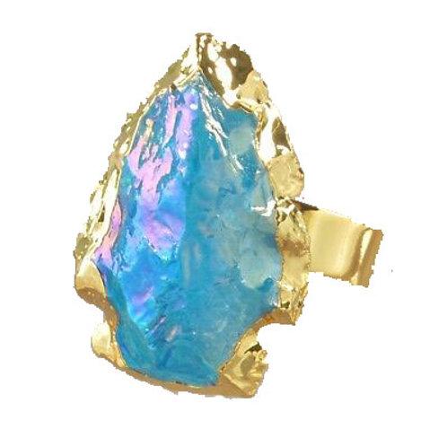 Arrowhead Blue Quartz Ring