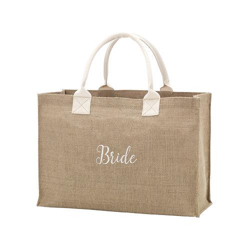Burlap Bridal Tote