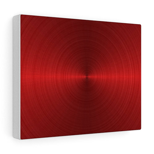Custom Red Disc Canvas Wrap