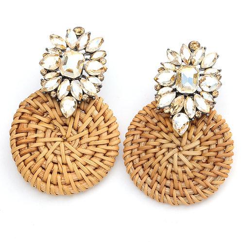 Jewel Rattan Earrings