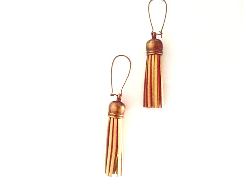Metallic Gold Fringe Earrings
