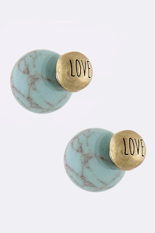 Love Double Sided Earrings