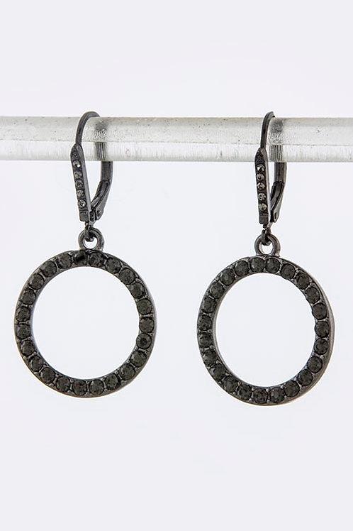 Hematite Round Drop Earrings