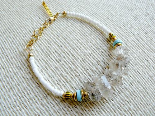 Herkimer Diamond Bead Bracelet