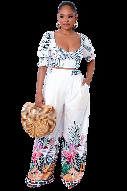 2 Piece Tropical Pants Set