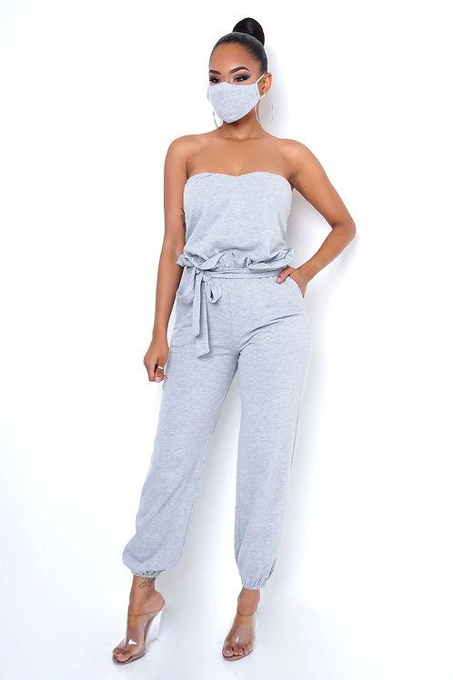 Gray Jumpsuit