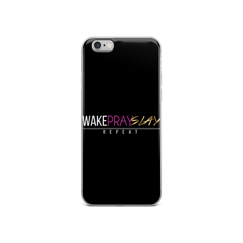 Wake Pray Slay Repeat Cell Phone Case