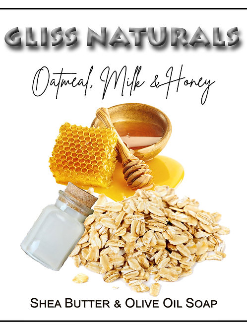 Hand Crafted Oatmeal Milk and Honey Soap