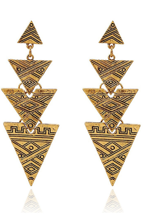 Tribal Triangle Earrings