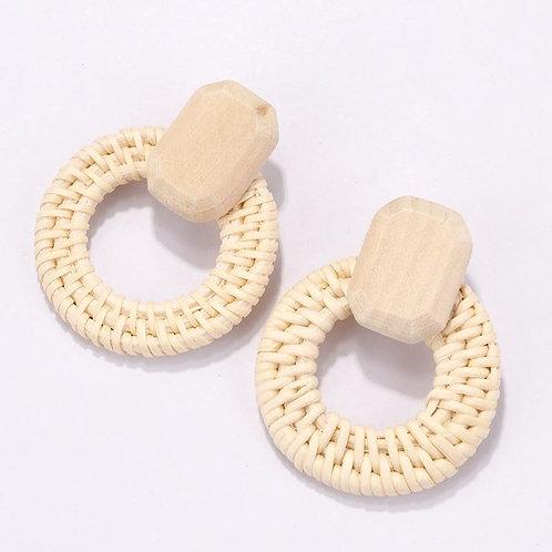Rattan Wood Earrings