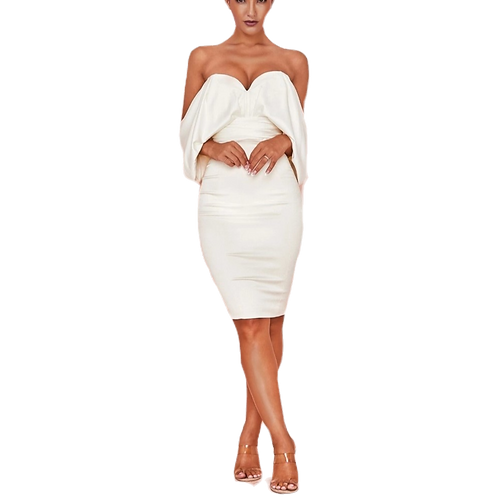 White Backless Bow-Tie Dress