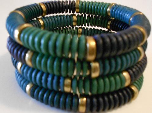 Green Acrylic Stretch Bracelets