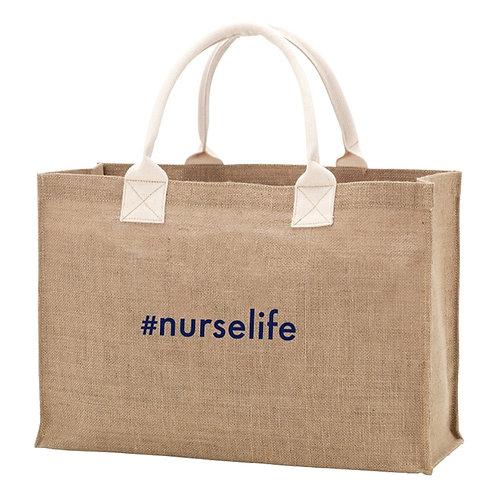 Burlap #nurselife Bag