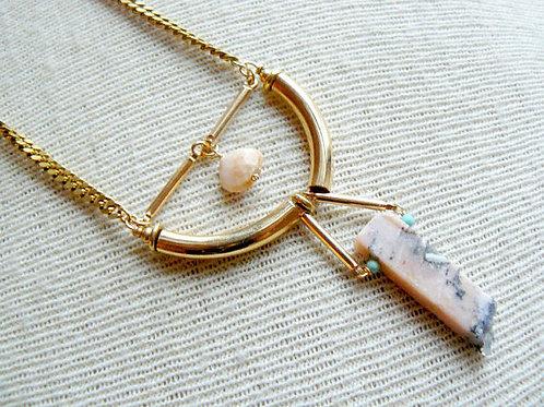 Handmade Opal Bead Necklace