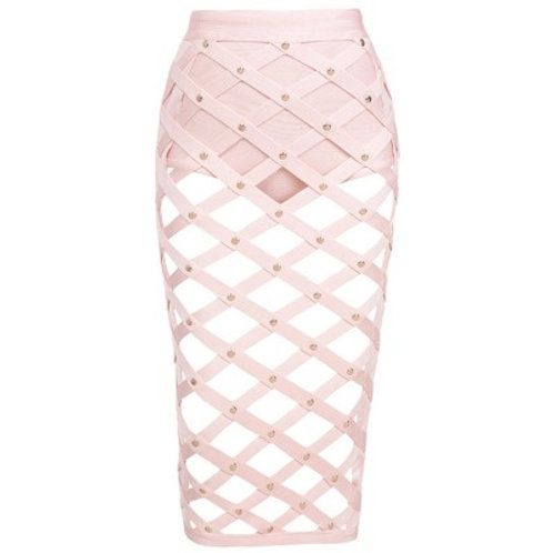 Diamond Cut Out Bandage Skirt