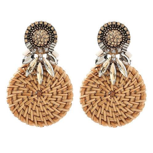 Rattan Jewel Earrings