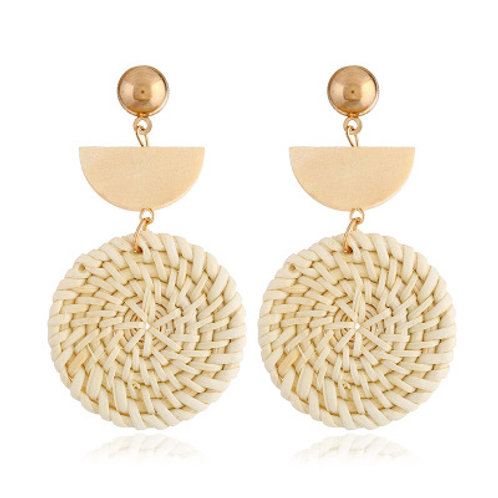 Rattan Drop Earring