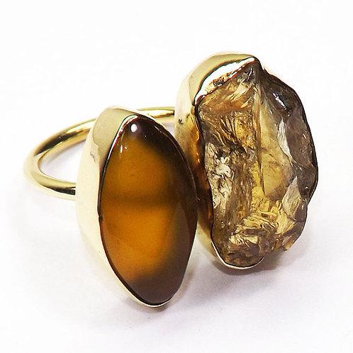 Citrine Yellow Aventurine Ring