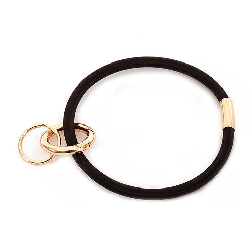 Black Keychain Bracelet