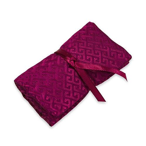 Fuschia Silk Jewelry Roll
