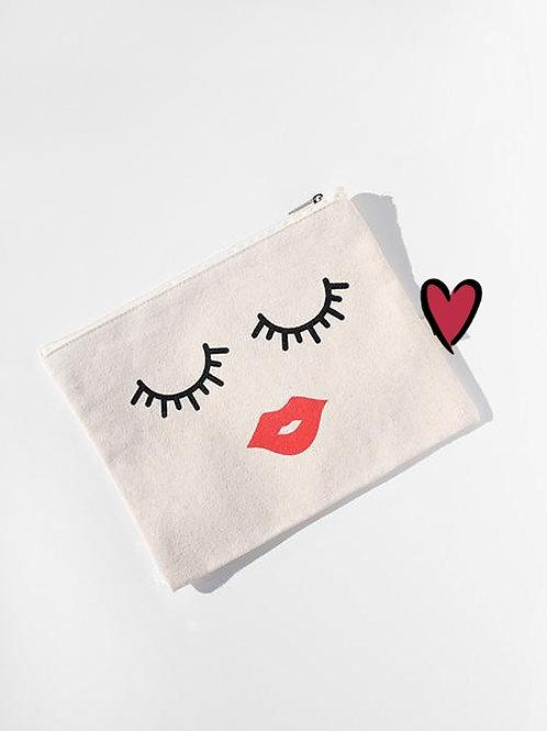 Kiss and Makeup Bag