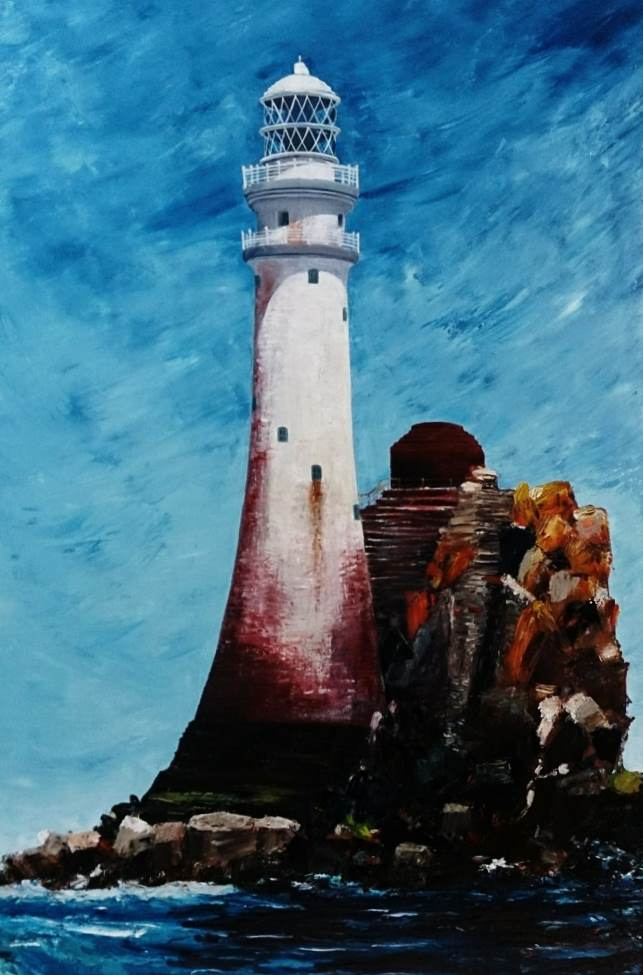 The Fastnet Lighthouse 100 x 70cms
