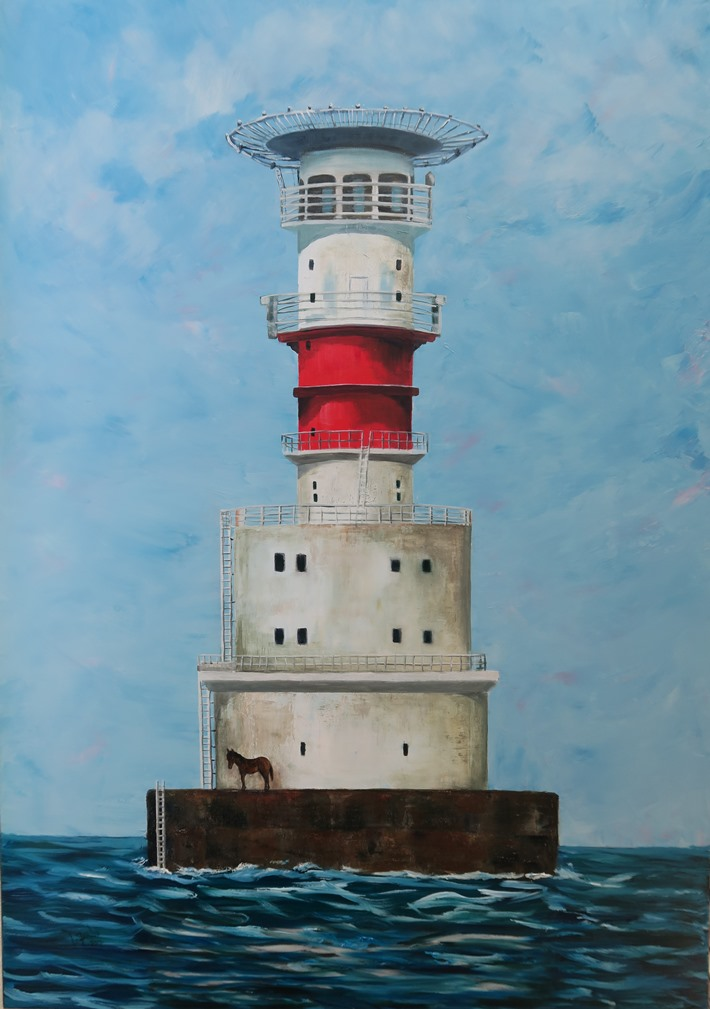 Kish Bank Lighthouse -100 x 70cms