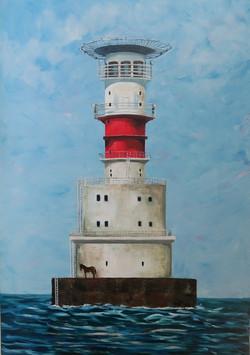 Kish Bank Lighthouse -100 x 70cms