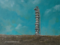 The Lime Kiln III  - Oil on canvas