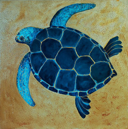 Blue & Gold Turtle