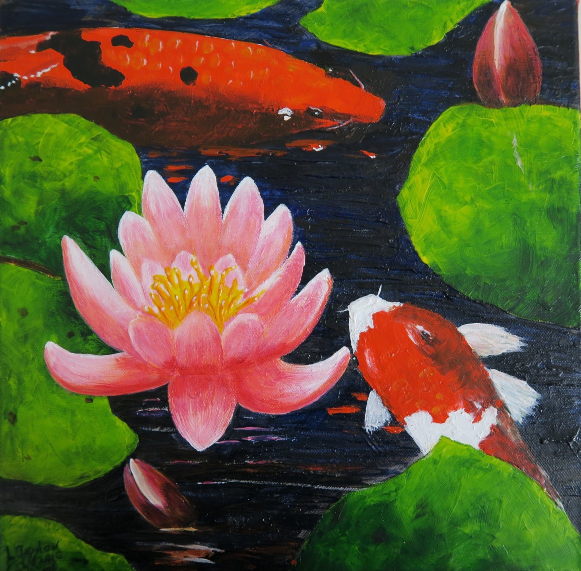 Koi & Lillies - Prints available