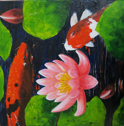 Koi & Lilies -Sold -prints available