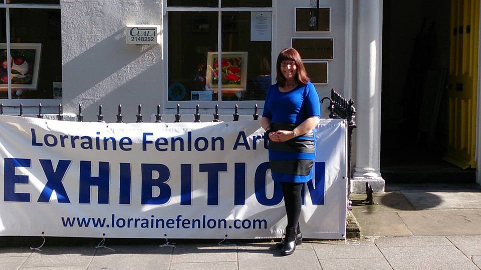 Me outside The Leinster Gallery, Dublin at my first Dublin Solo Show