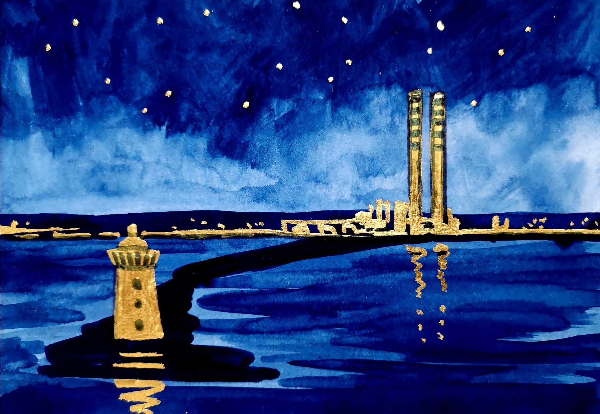 Sold - The Lighthouse & the Chimneys